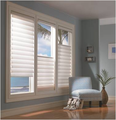 Vignette® Modern Roman Shades with the Top-Down/Bottom-Up design option from Hunter Douglas