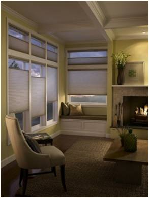 Hunter Douglas Applause® honeycomb shades in Vintage™ fabric