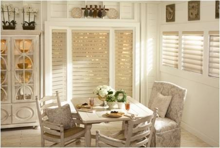 Silhouette® window shadings  from Hunter Douglas  in the four-inch vane size