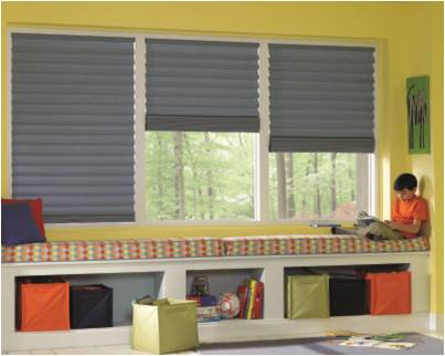 Hunter Douglas Vignette®  Modern Roman Shades  with the LiteRise®  cordless lifting system