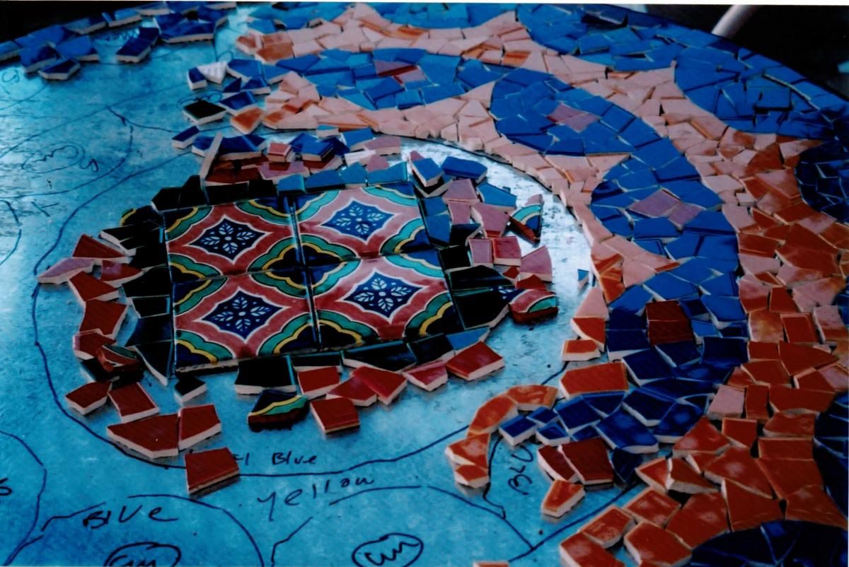 Pick Up The Pieces: From Broken Glass To A Sumptuous Mosaic Table ...