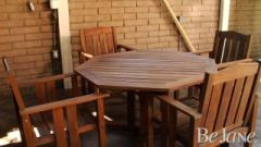How To Refinish a Teak Table and Chairs